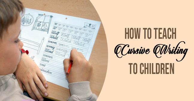 cursive writing for kids