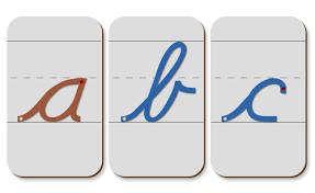 how to teach cursive writing at home